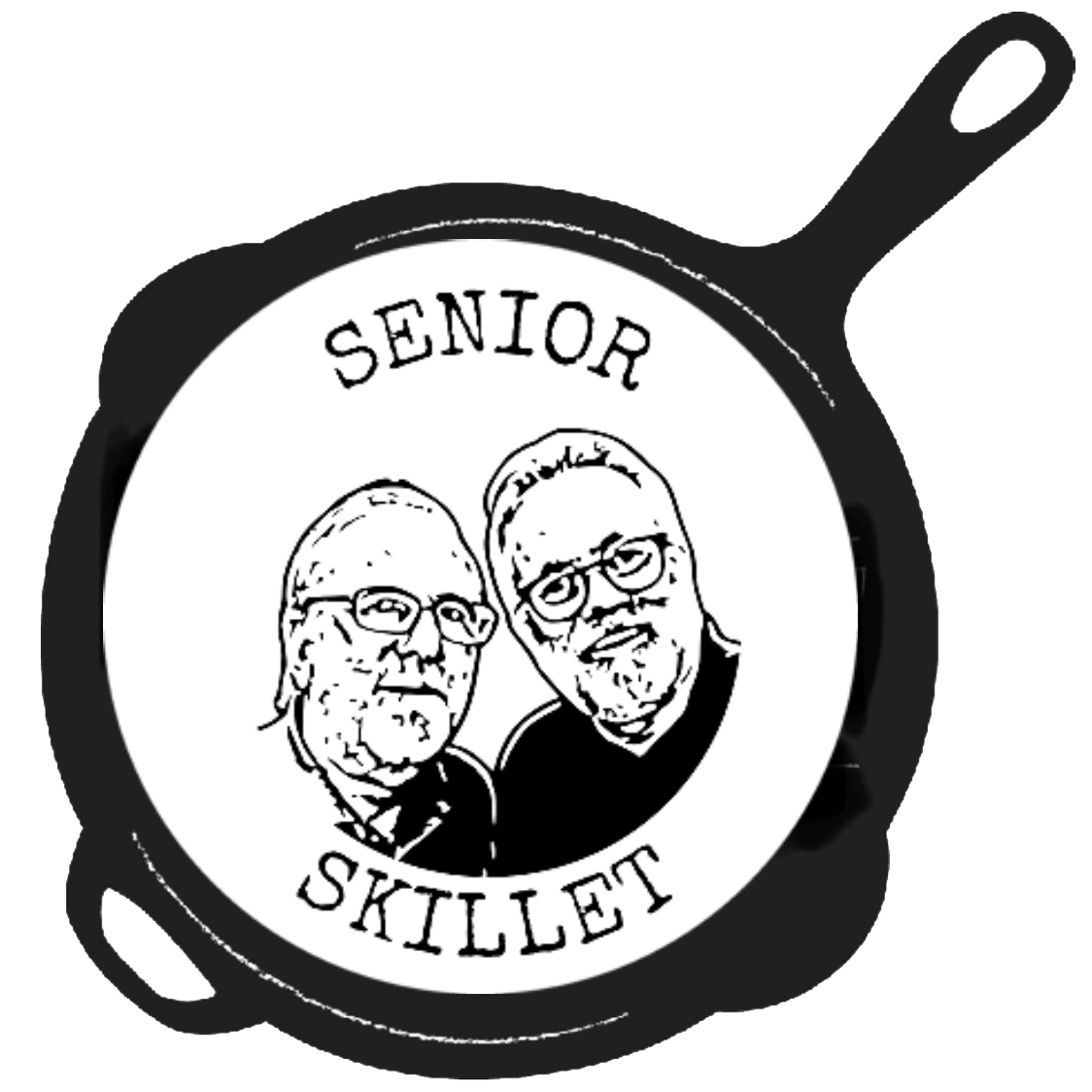Logo of our faces in a skillet