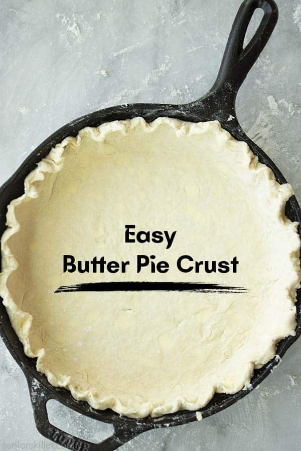 Easy Pie Crust in a Cast Iron Skillet