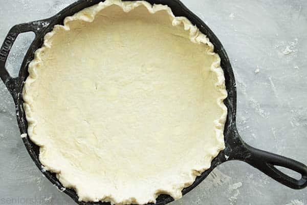 Homemade Pie Crust in a Cast Iron Skillet