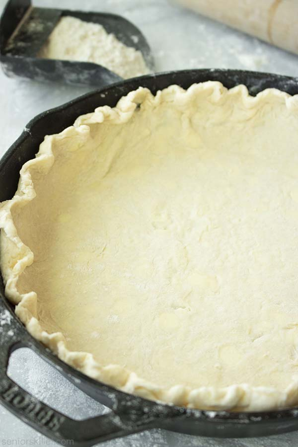Easy Butter Crust in a Cast Iron Skillet