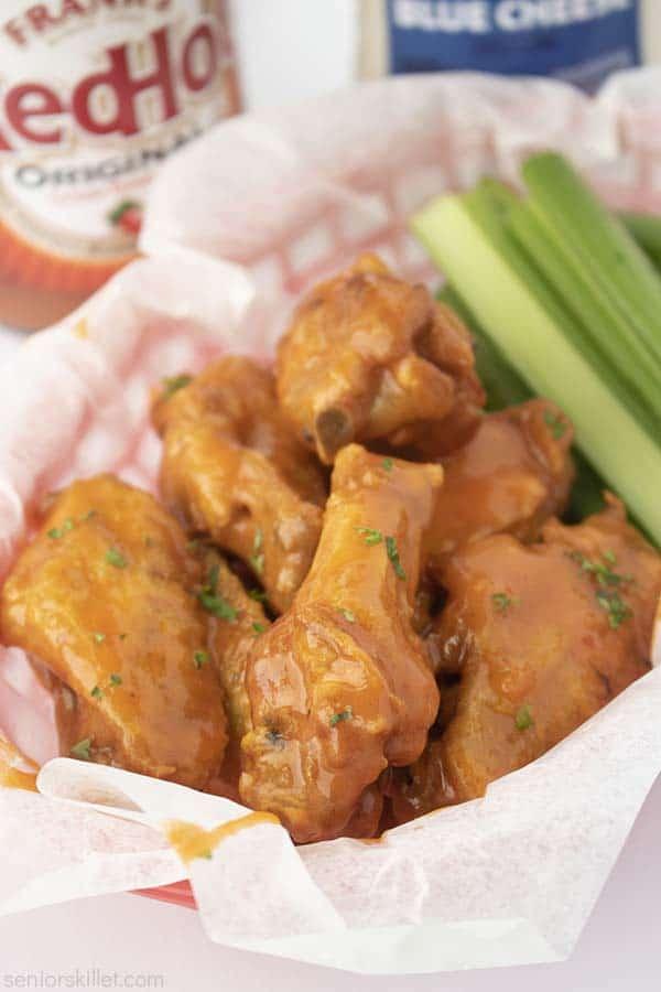 Buffalo Chicken Wings in a basket