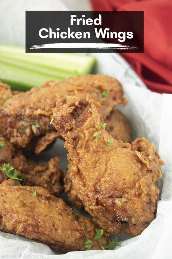 Text on image Fried Chicken Wings