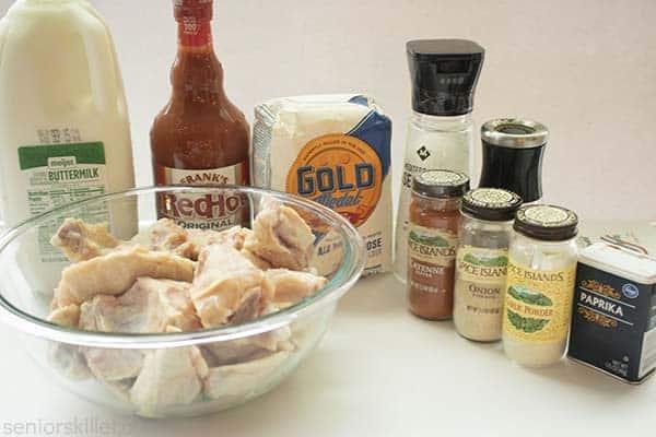 Ingredients for buffalo wings