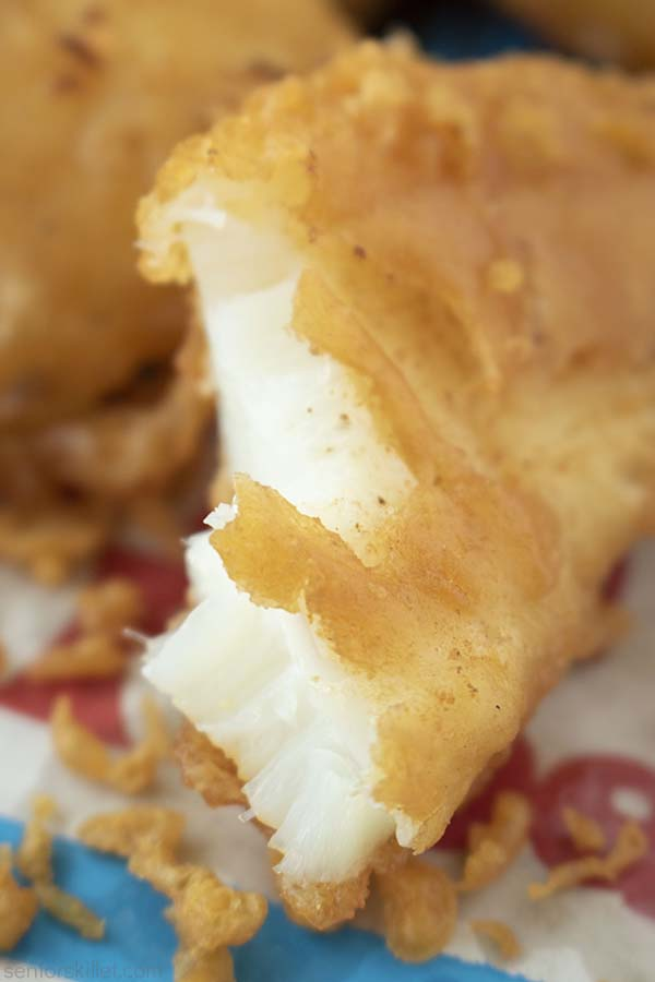Inside of the fried fish