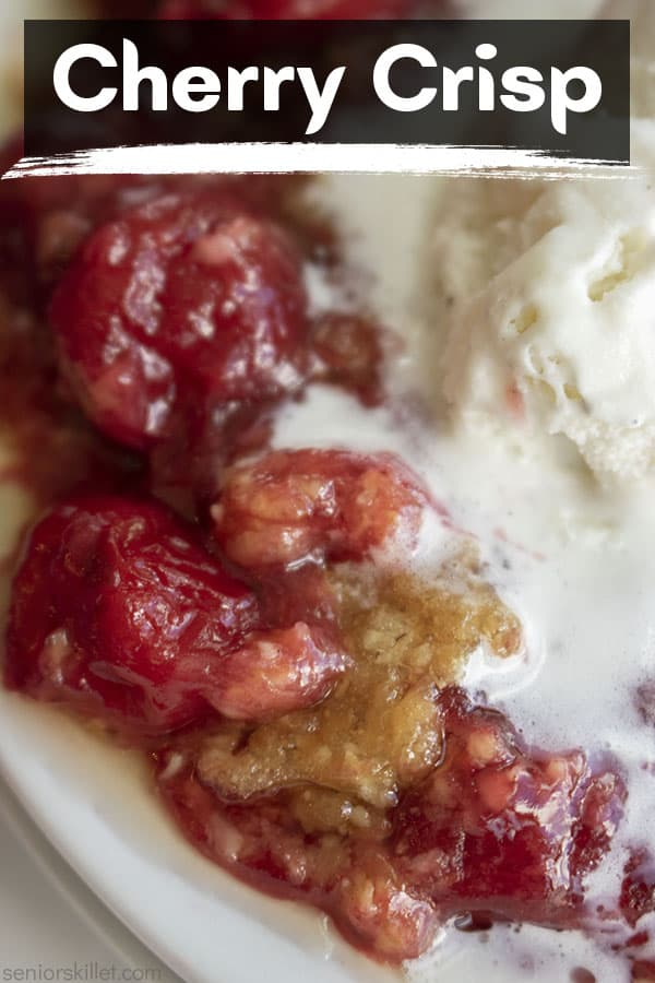 Text on image Cherry Crisp