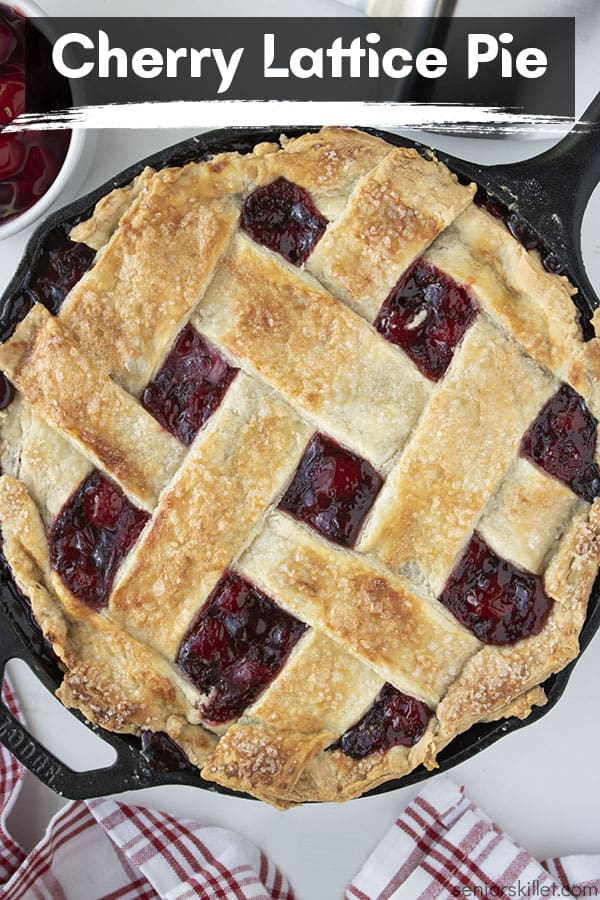 Text on image Cherry Lattice Pie