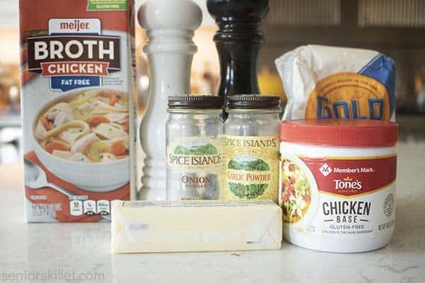 Ingredients to make Homemade Gravy