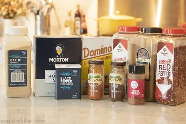 Ingredients for rub recipe