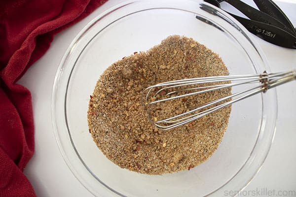 Mixed homemade rub