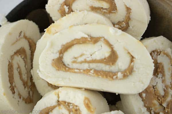 Chilled Old Fashioned Peanut Butter Pinwheel