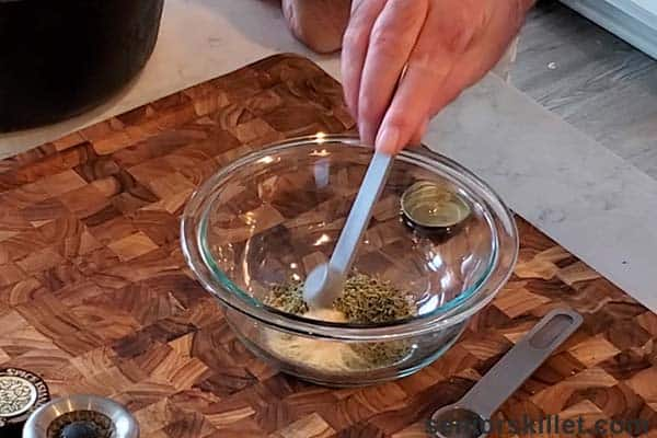 Making the turkey rub