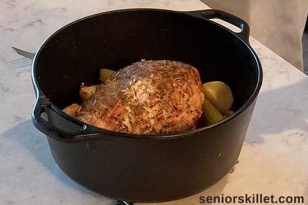 Roasted Turkey Breast in pan