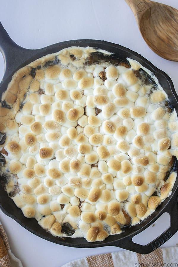 Simple Sweet Potato Casserole in a skillet