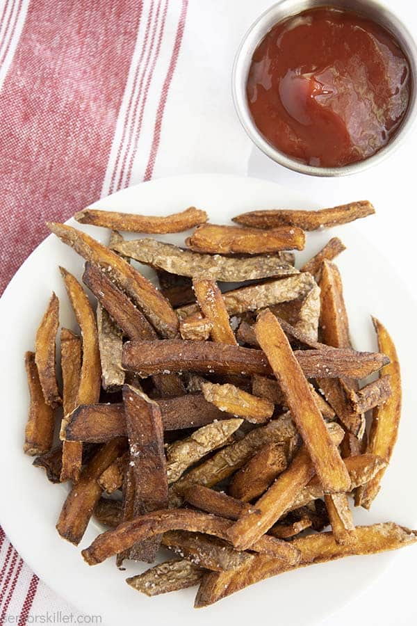 Crispy French Fries on a plate