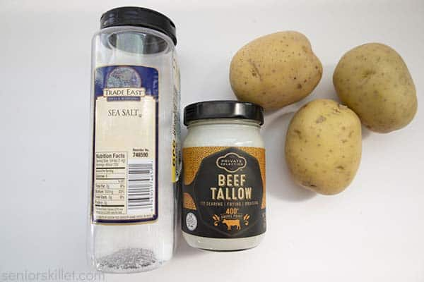 Ingredients to make Homemade French Fries