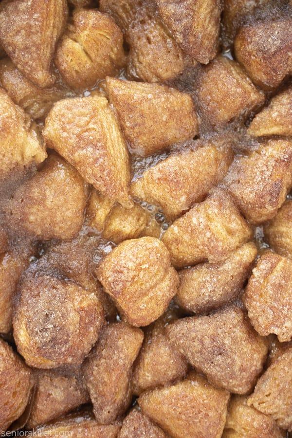 Gooey biscuits closeup