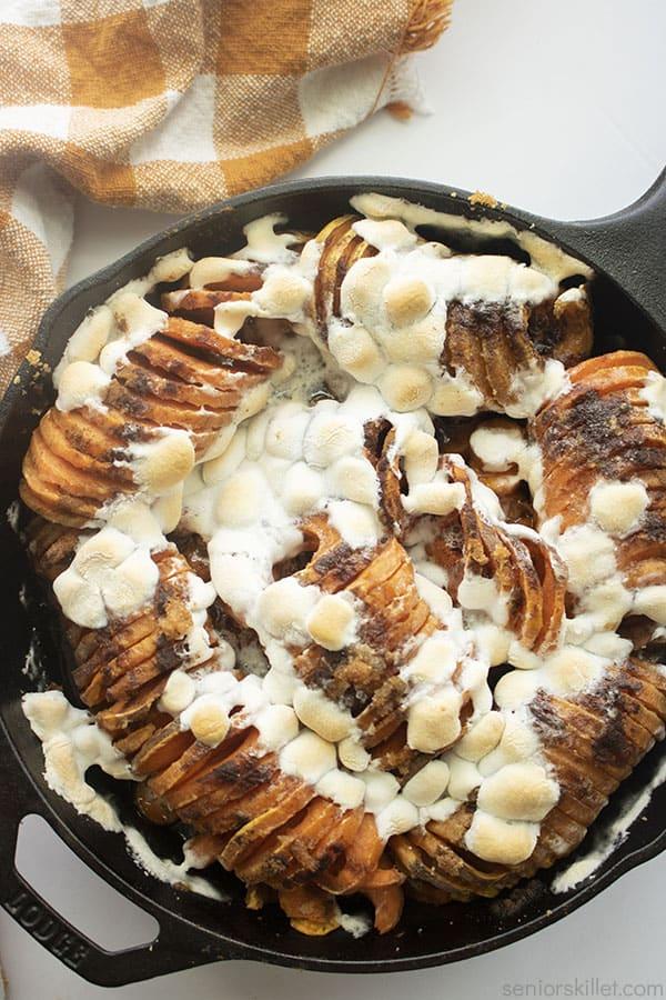 Skillet Sliced Sweet Potatoes Casserole