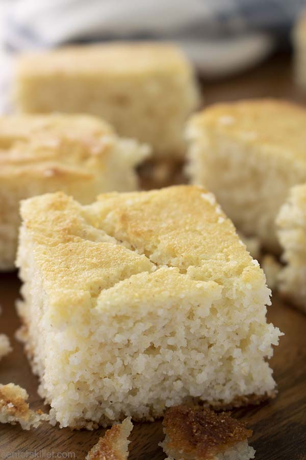 Pieces of Southern White Cornbread