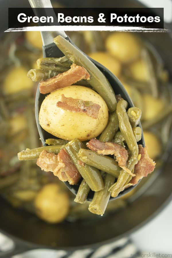 Text on image Southern Green Beans and Potatoes