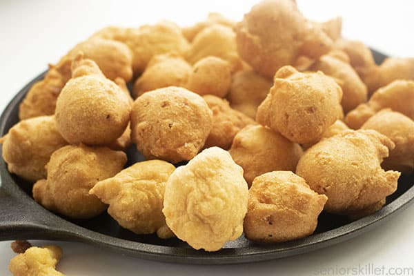 Golden fried hushpuppies