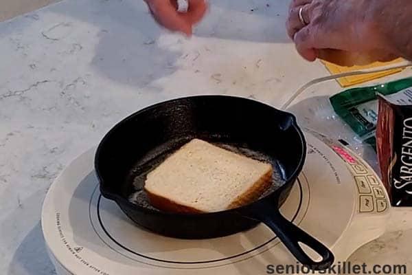 Bread in cast iron skillet