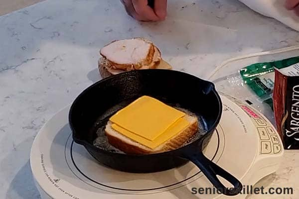 Cheese added to bread