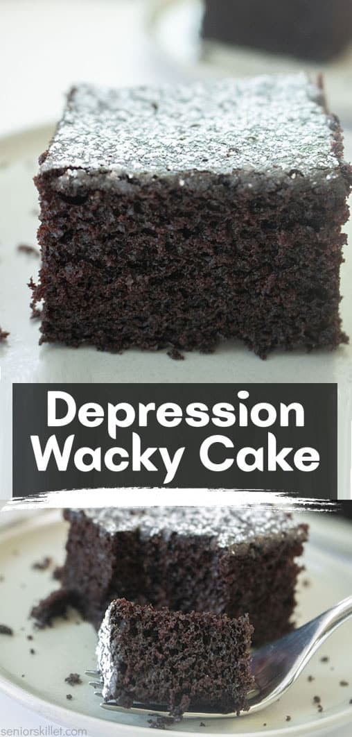 Long pin collage Depression Wacky Cake