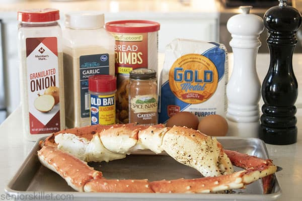 Ingredients to make Fried Crab Legs