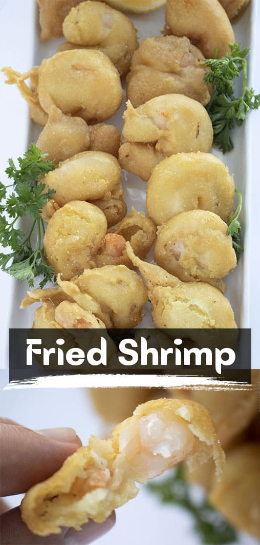 Long pin collage Fried Shrimp