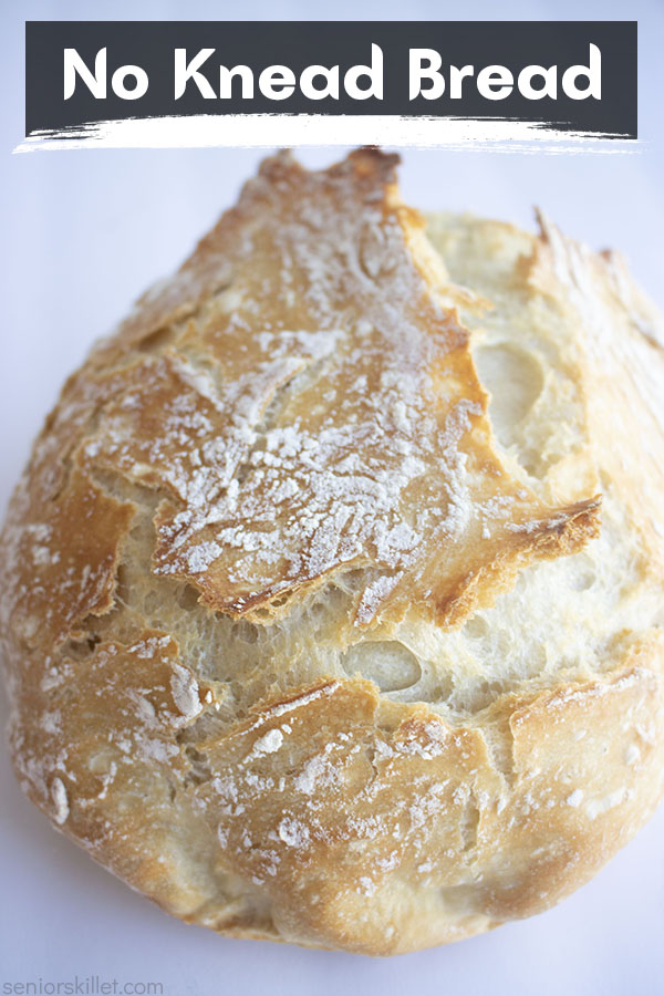 Text on image No Knead Bread