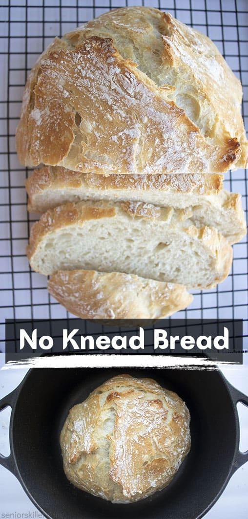 Long pin Collage No Knead Bread